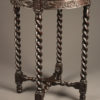Antique English side table with caned top
