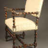 Antique English Renaissance arm chair