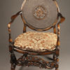 Antique Flemish style armchair with wonderful cane work