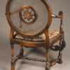 Antique Flemish style armchair with wonderful cane work.