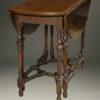 Antique English gateleg drop leaf table.