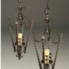 Pair of early 20th century iron antique lanterns