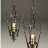 Pair of early 20th century iron antique lanterns