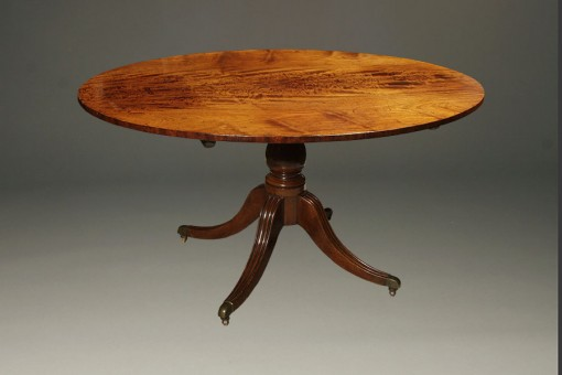 Antique English Regency oval table