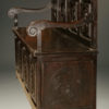 French hand carved book bench from Quimper region