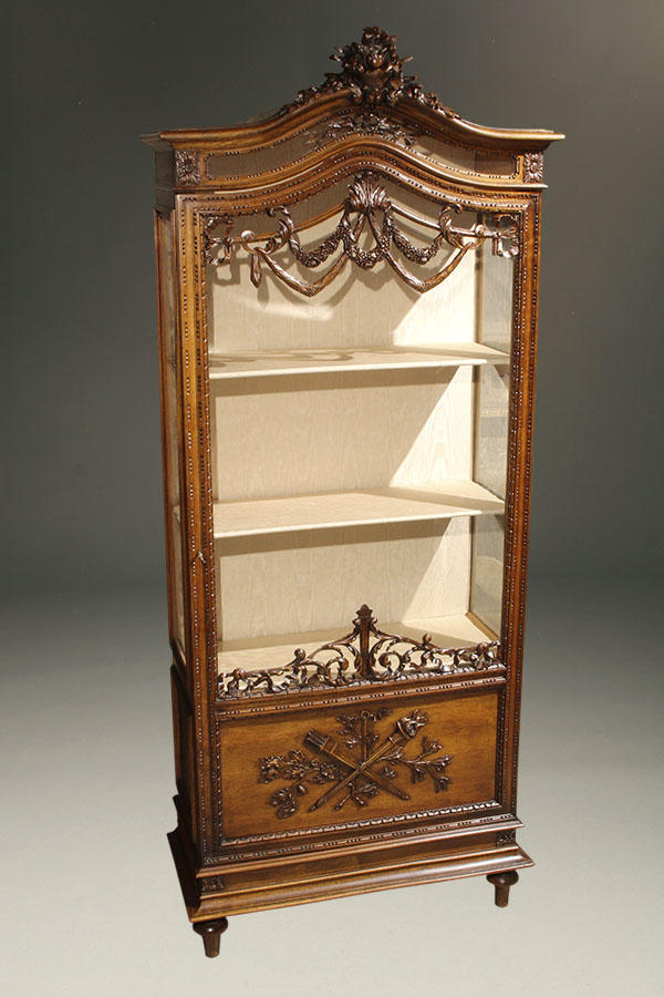 A5409A-antique-cabinet-louis XVI-vitrine