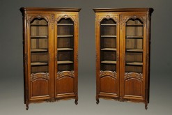 Pair of oak bookcases A5413A
