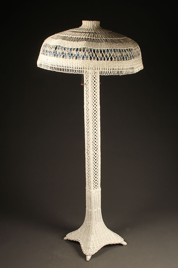 Wicker floor lamp A5436A