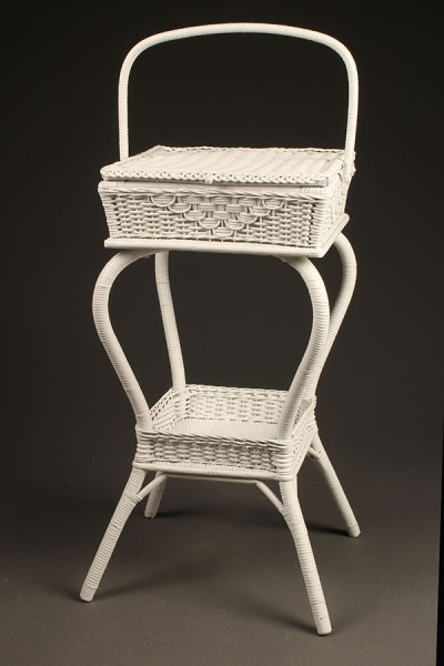 Wicker sewing basket A5438A