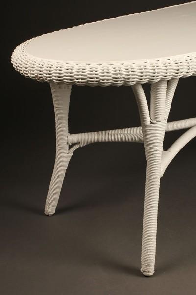 Oval wicker coffee table A5440B