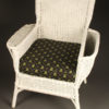 Wicker armchair with stool A5442B