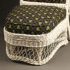 Wicker armchair with stool A5443C