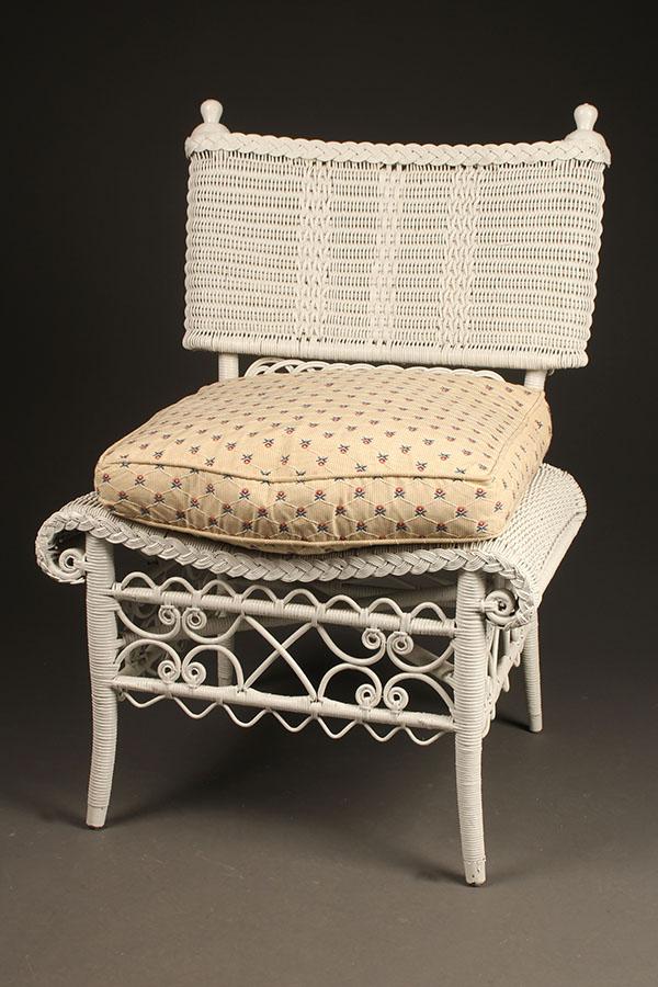 Wicker side chair A5444A