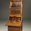 A5446C-english-secretary-bookcase-walnut