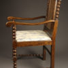 Pair of antique Jacobean arm chairs A5453C