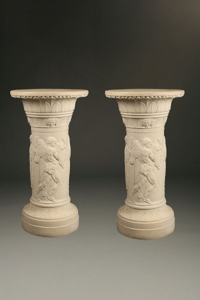Pair of Parian pedestals A5468A
