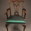 Set of 8 Chippendale style chairs A5484B