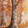 Oil on canvas of beech trees A5485B