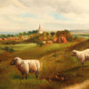 English landscape with sheep A5486C