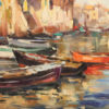 Painting of harbor scene A5487B