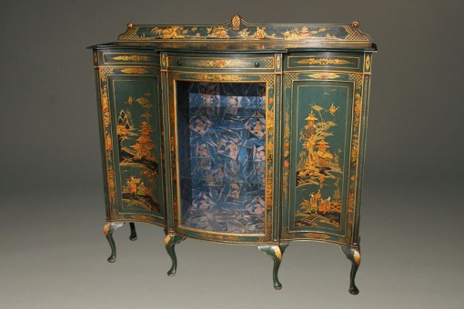 Antique Cabinet with Green Chinoiserie Finish A5496A