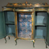 Antique Cabinet with Green Chinoiserie Finish A5496B