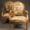 Pair of Louis XVI style arm chairs A5521A