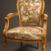 Pair of Louis XVI style arm chairs A5521B