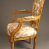 Pair of Louis XVI style arm chairs A5521C