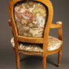 Pair of Louis XVI style arm chairs A5521D