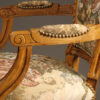 Pair of Louis XVI style arm chairs A5521F