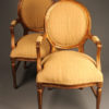 Pair of custom arm chairs A5531A