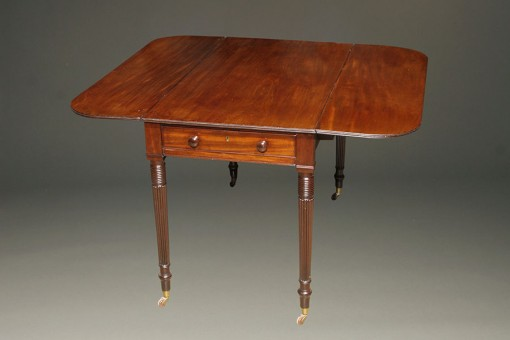 Mahogany drop leaf table A5532A