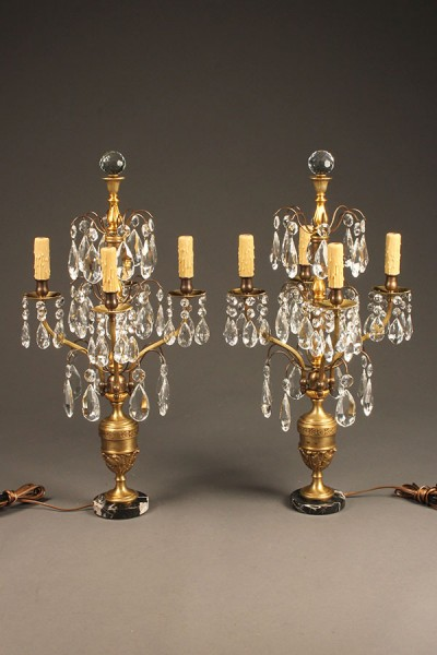 Pair of candelabra style lamps A5538A