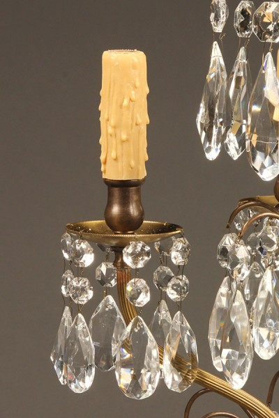 Pair of candelabra style lamps A5538D