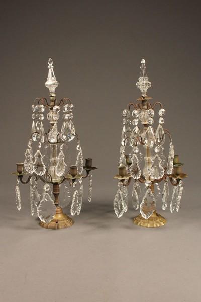 Pair of bronze candelabras A5539A