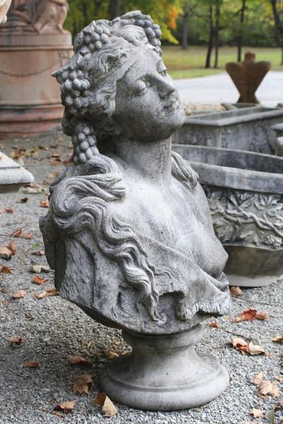 Cast limestone bust A5559B