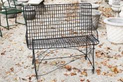 Wire garden bench A5560A