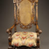 Pair of carved arm chairs A5564B