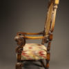 Pair of carved arm chairs A5564C