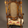 Pair of carved arm chairs A5564D