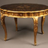 Table with gilded finish A5566A