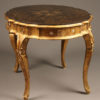 Table with gilded finish A5566B
