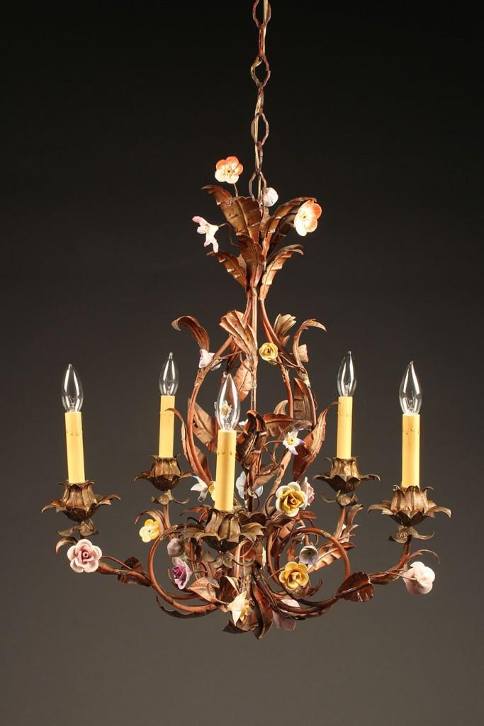 Italian 5 arm iron chandelier A5576A