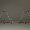 Pair of 6 arm iron chandelier A5579A
