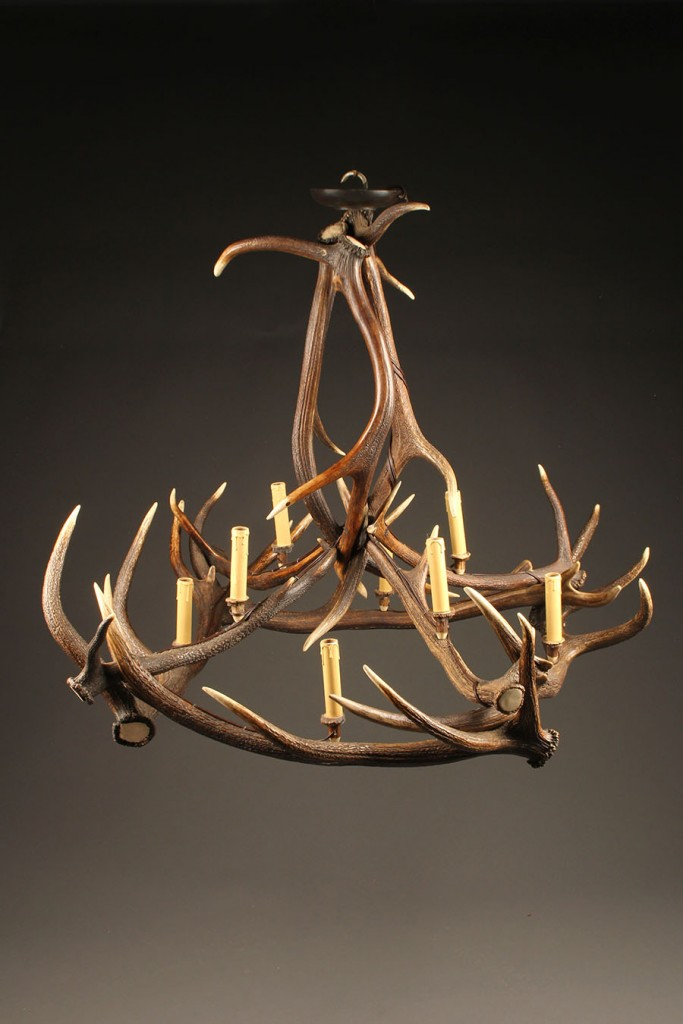 Chandelier made from stag antlers A5580A