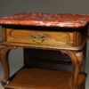 Pair of marble top night stands A5587E