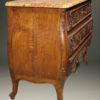 19th century French Louis XV style oak commode with marble top and bronze hardware, circa 1880. A5596B