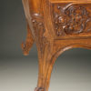 19th century French Louis XV style oak commode with marble top and bronze hardware, circa 1880. A5596F