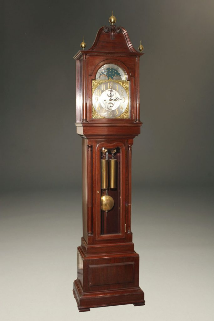 A2107A-antique-grandfather-tall-clock-mahogany